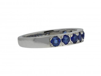 Vintage sapphire half eternity band berganza hatton garden