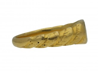 Medieval iconographic ring berganza hatton garden