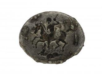Ancient Greek silver ring hunting scene hatton garden berganza