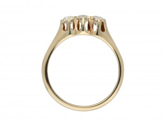 Old cut diamond three stone ring berganza hatton garden