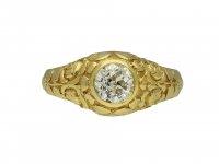 Old mine diamond carved solitaire ring berganza hatton garden