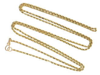 Victorian long guard chain berganza hatton garden