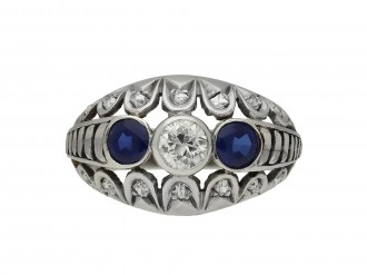 Vintage sapphire and diamond ring berganza hatton garden