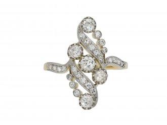 Old mine diamond cluster ring berganza hatton garden
