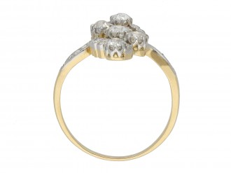 Old mine diamond cluster ring berganza hatton garden