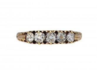 Old mine diamond five stone ring hatton garden