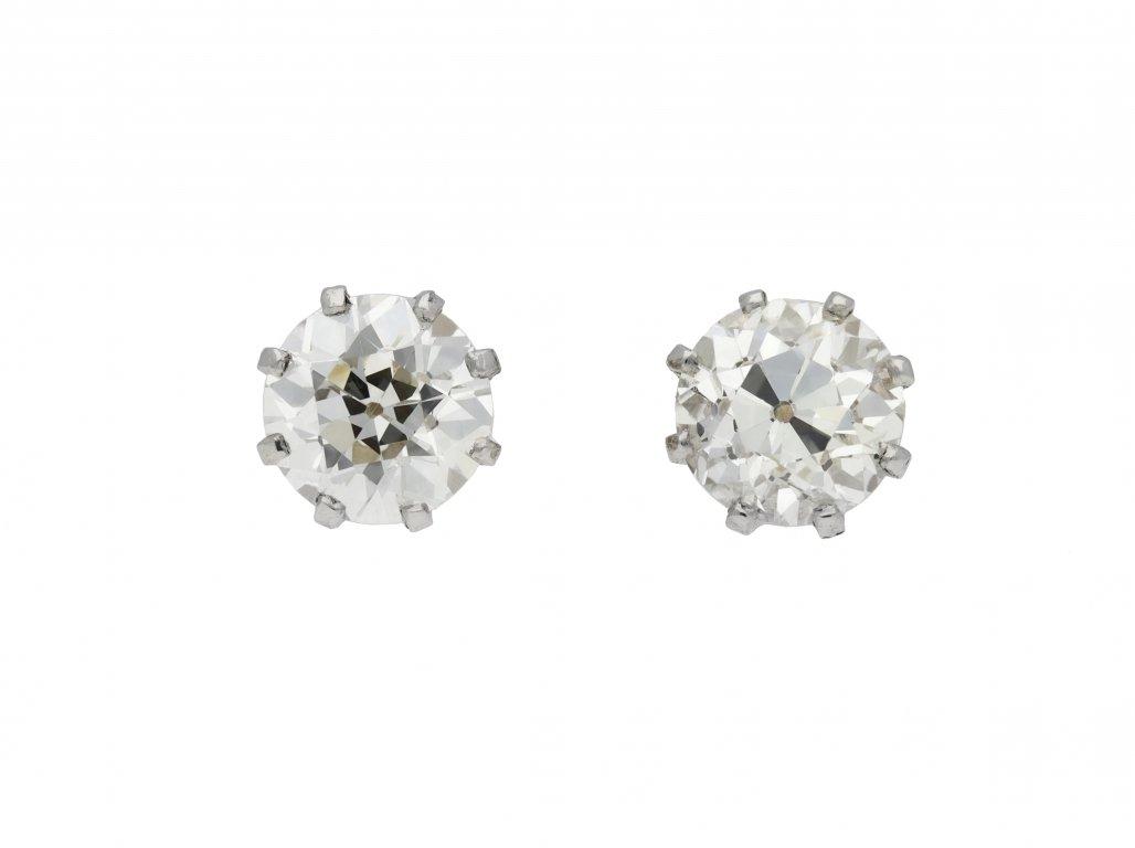 Old cut diamond stud earrings berganza hatton garden