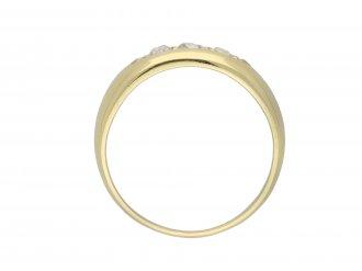 Victorian diamond five stone ring berganza hatton garden