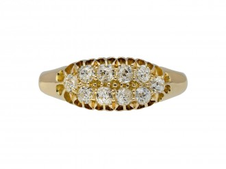 Victorian diamond two row ring hatton garden