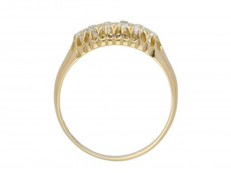 Victorian diamond two row ring hatton garden
