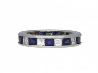 Sapphire and diamond eternity ring berganza hatton garden