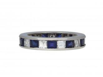 Sapphire and diamond eternity ring berganza hatton garden