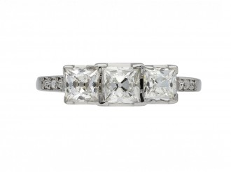 Art Deco diamond three stone ring berganza hatton garden