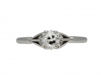 Old mine diamond solitaire ring hatton garden