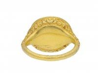Elizabethan intaglio ring featuring Edward de Vere hatton garden