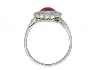 Burmese ruby diamond coronet cluster ring hatton garden