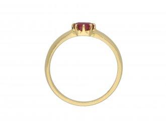 Victorian Burmese ruby solitaire ring hatton garden