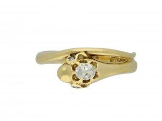 Victorian diamond snake ring hatton garden