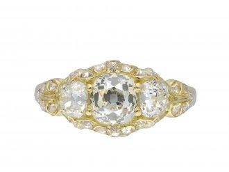 Victorian three stone diamond ring hatton garden