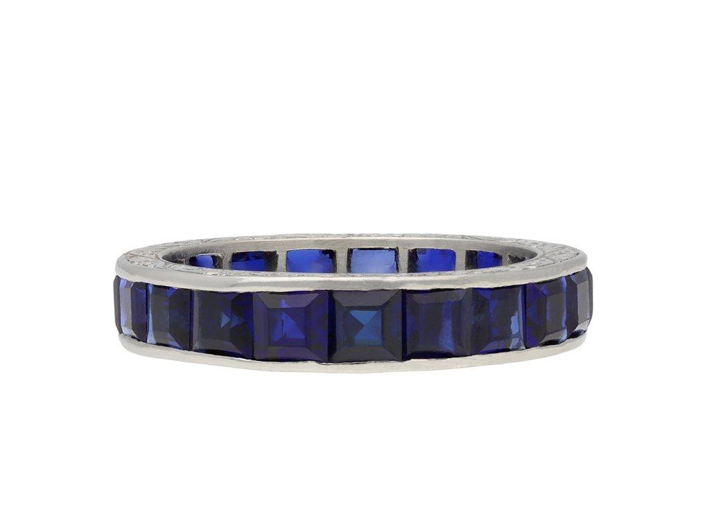 Sapphire full eternity ring hatton garden