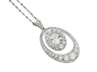 Edwardian diamond pendant hatton garden