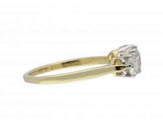Edwardian three stone diamond ring hatton garden