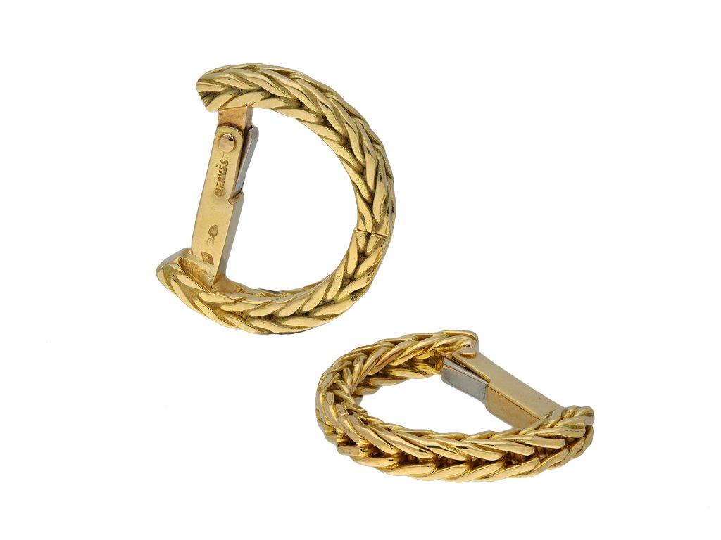 Hermes yellow gold cufflinks hatton garden