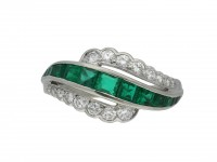 Oscar Heyman Brothers emerald diamond ring hatton garden