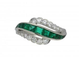 Oscar Heyman Brothers emerald diamond ring hatton garden