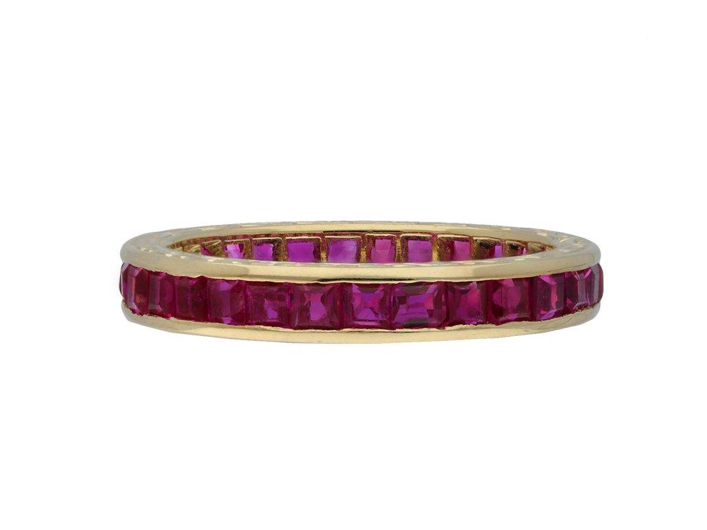 Vintage ruby full eternity ring hatton garden