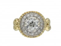 Art Nouveau diamond coronet cluster ring hatton garden
