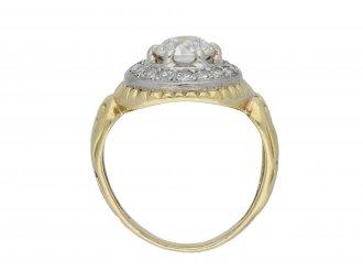 Art Nouveau diamond coronet cluster ring hatton garden