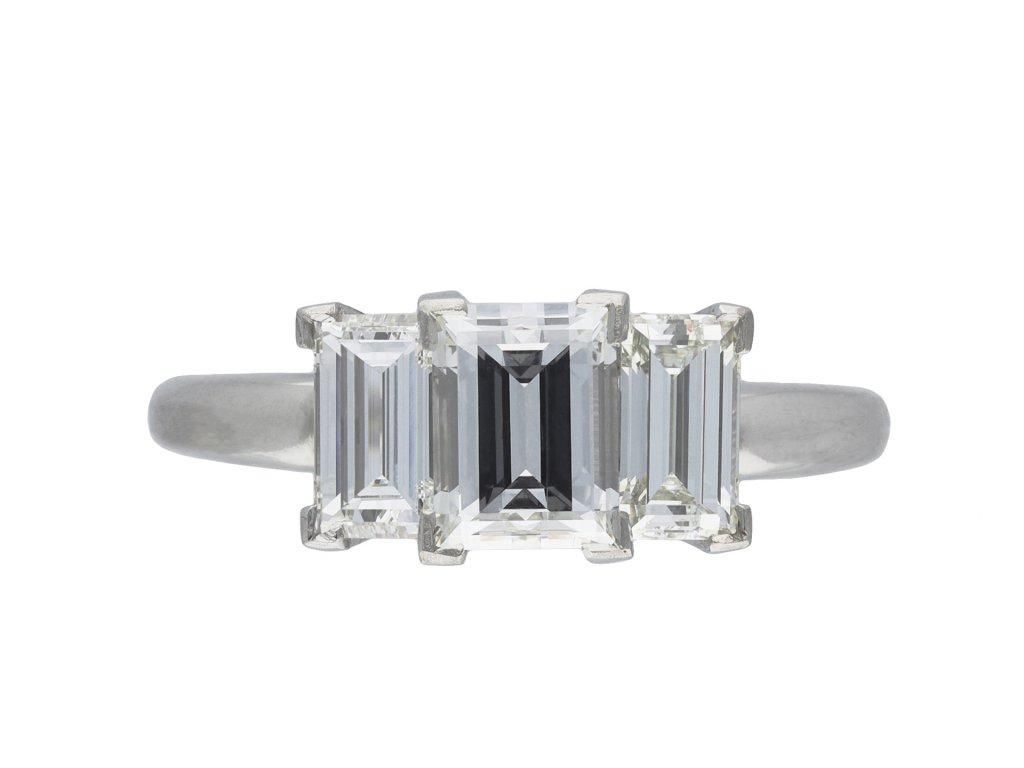 Art Deco three stone diamond ring hatton garden