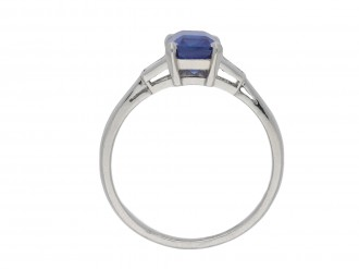 Art Deco Ceylon sapphire and diamond ring hatton garden