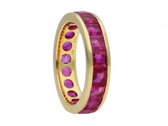 Ruby full eternity ring by Hemmerle hatton garden