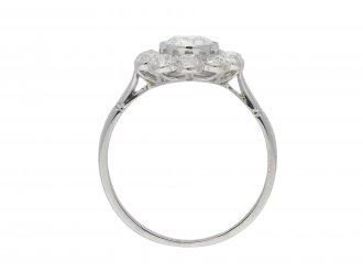 Edwardian diamond coronet cluster ring hatton garden