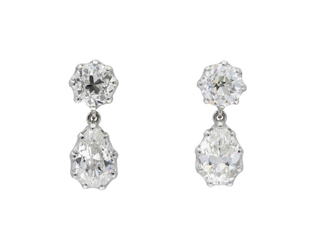 Old cut diamond drop earrings hatton garden