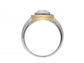 Diamond and sapphire target ring hatton garden