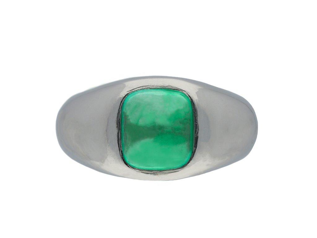 Cabochon colombian emerald ring hatton garden