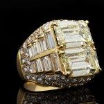 Bulgari diamond 'Trombino' ring, Italian, circa 1970.