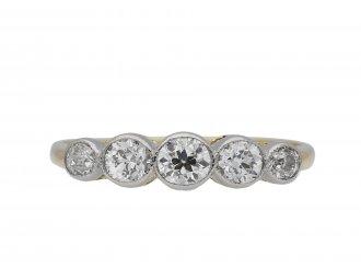 Edwardian five stone diamond ring hatton garden