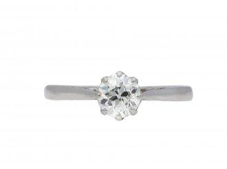 Old cut diamond solitaire ring hatton garden