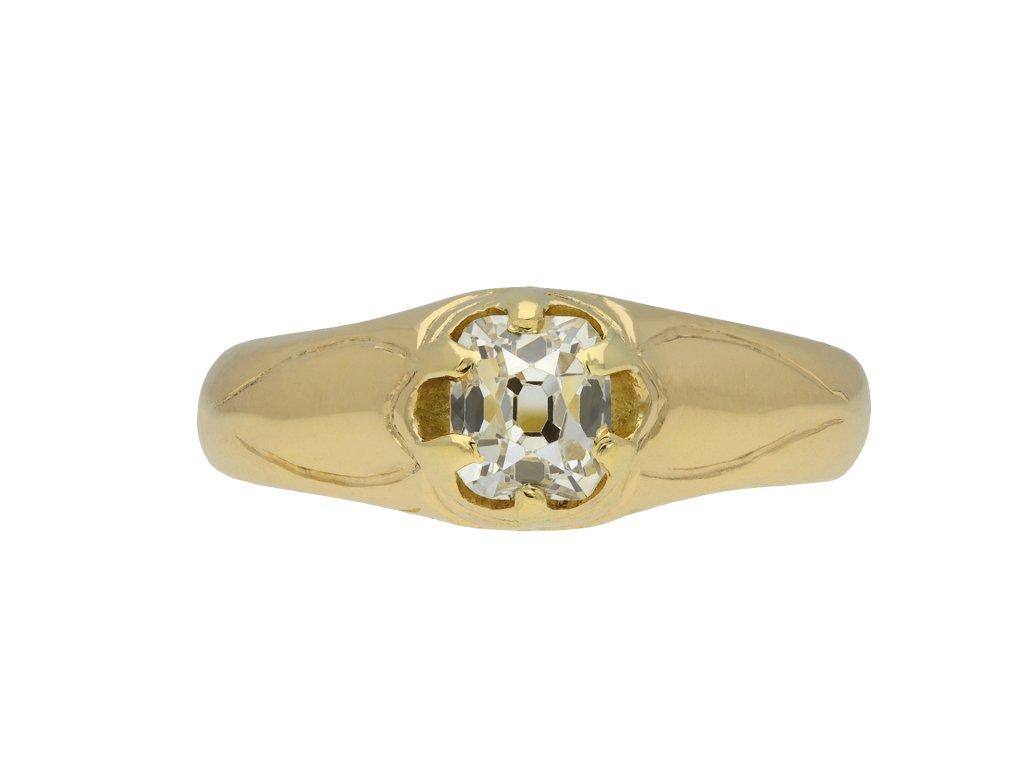 Victorian diamond solitaire ring hatton garden