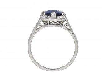 Edwardian Royal Blue Burmese sapphire diamond ring hatton garden