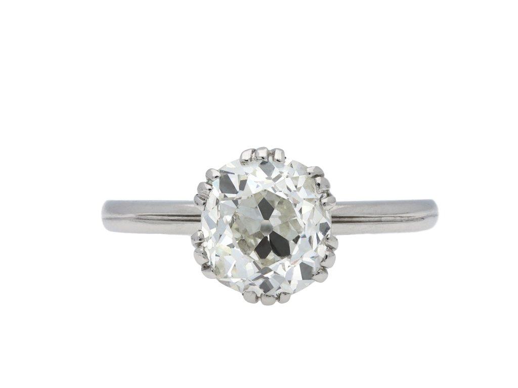 Edwardian old mine diamond solitaire ring hatton garden