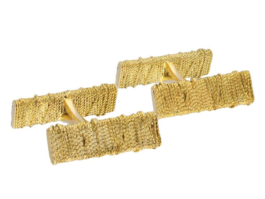 Georges Lenfant vintage yellow gold cufflinks hatton garden