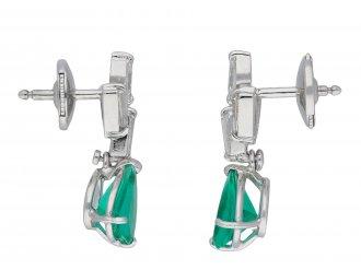 Vintage Colombian emerald and diamond earrings hatton garden