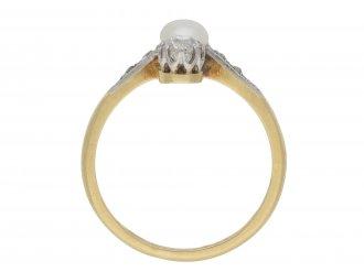 Belle Époque natural pearl diamond ring hatton garden