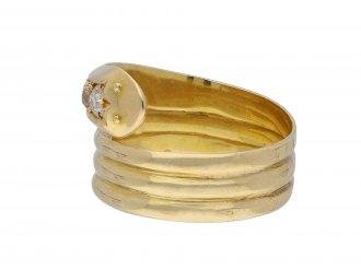 Edwardian diamond set snake ring hatton garden