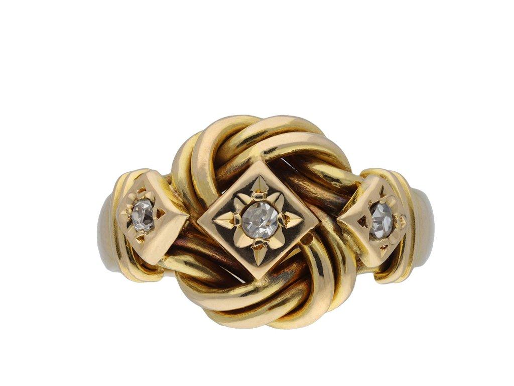 Diamond knot ring, English hatton garden